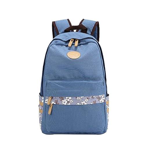 MingTai Mochilas Escolares Mujer Mochila Escolar Lona Grande Casual Backpack Chicas Viaje Multifuncional Oferta Mochilas Para Libros Azul Claro: Amazon.es: ...