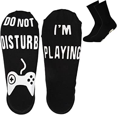 amazon com ankle socks novelty crew funny fortnite socks 2 pairs cotton non slip socks for men kids boys great gift for fortnite lovers black black clothing amzn