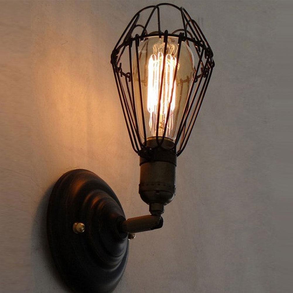 E27 Soporte de luz de Pared Soporte de luz montado en la Pared de la Vendimia Cafe en casa Tienda Rack de iluminaci/ón Decorativo con Enchufe de luz E27 #4 Zyyini Soporte de luz de Pared