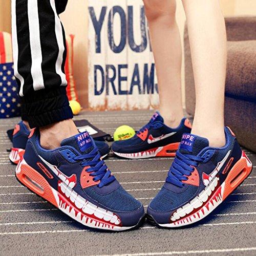 und Sport Sportschuhe Liebhaber Schuhe Frauen Handgezeichnete Damen Outdoor Turnschuhe Luftpolster Freizeit Männer Laufschuhe Blau CAI Niedrig Freizeitschuhe Top Anime Reisen X81FBq