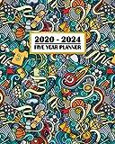 2020-2024 Five Year Planner: Super Sports Theme | Football Soccer Baseball Tennis Golf | 60 Month Calendar and Log Book | Business Team Time ... 5 Year - 2020 2021 2022 2023 2024 Calendar)