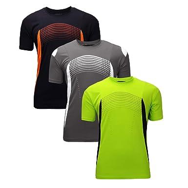 c44c2e972d7 ZITY Mens Lightweight Quick Dry T Shirt Sports Running Short Tees 3pack  (Green,Grey