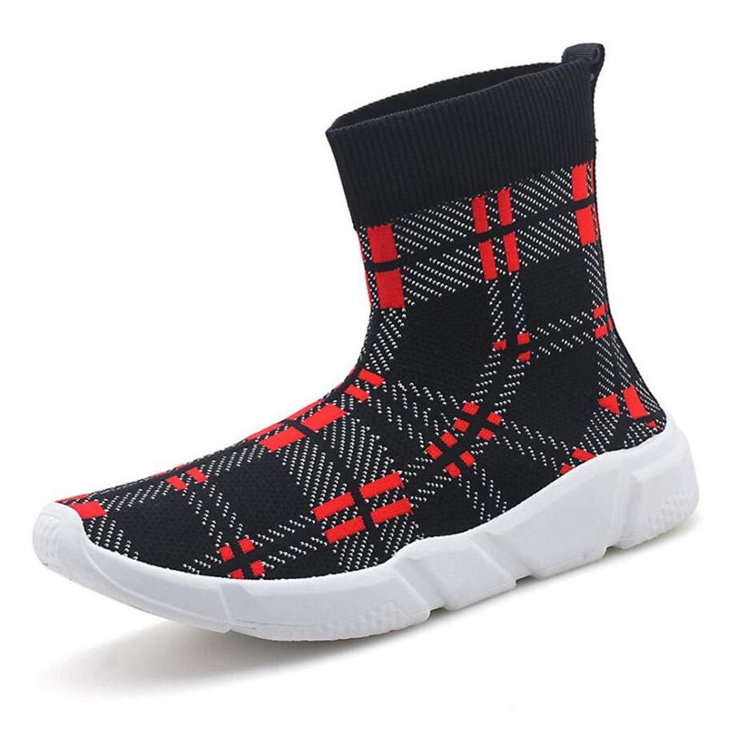 Hombres Hombres Hombres y Mujeres Zapatos para Caminar Running Calcetines Zapatos Mesh Sneakers Air Cushion Athletic Gym Zapatos Casuales (Color : Rojo, tamaño : 41 EU) 6096cb
