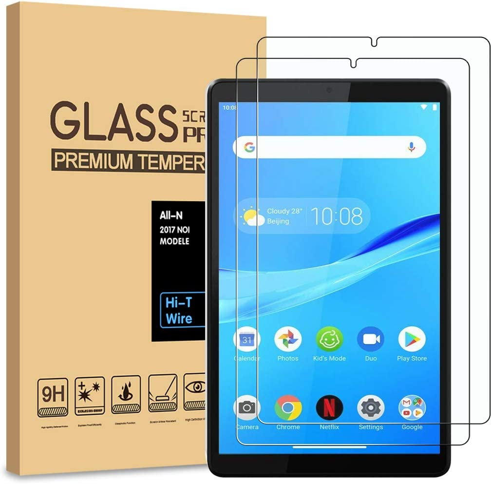 [2-Pack] PULEN for Lenovo Tab M8 Screen Protector,HD Clear Anti-Scratch No Bubble 9H Hardness Tempered Glass (8.0 inch)