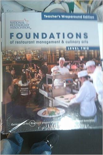 Laden Sie das PDF-Format von Google eBooks herunter Foundations of Restaurant Management & Culinary Arts Level Two ePub