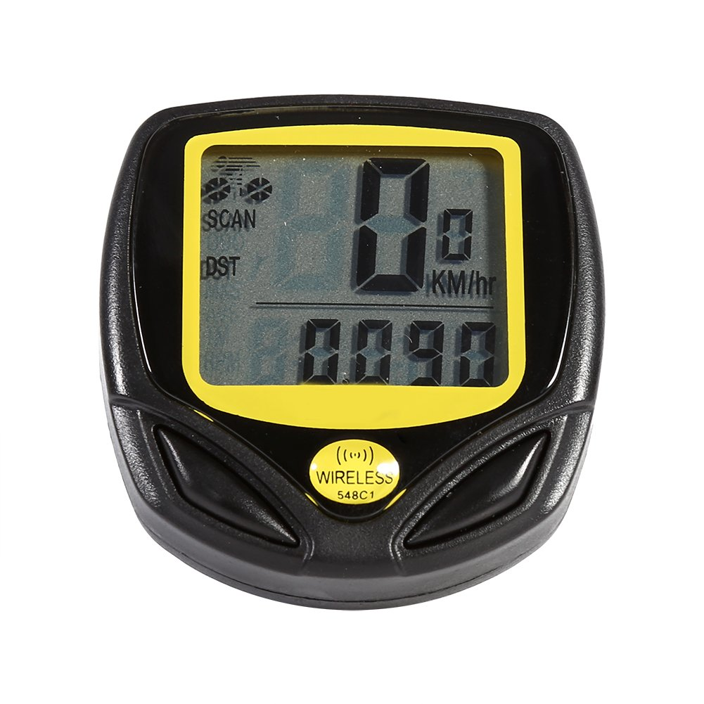 Bike Computer Wireless Bicycle Speedometer, Bike Odometer Cycling Waterproof Durable Multi Function Stopwatch With LCD Display Speedometer
