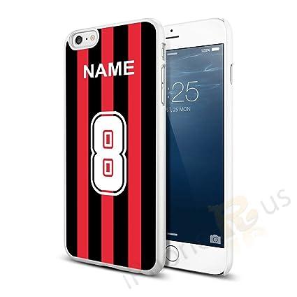 AC Milan Colores Camiseta de fútbol Personalizada, Cualquier Nombre, Cualquier número Snap-on