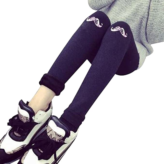LEGG FANG Estampado Con Un Patrón De Calcetines De Ropa Interior Más Gruesa De Otoño E