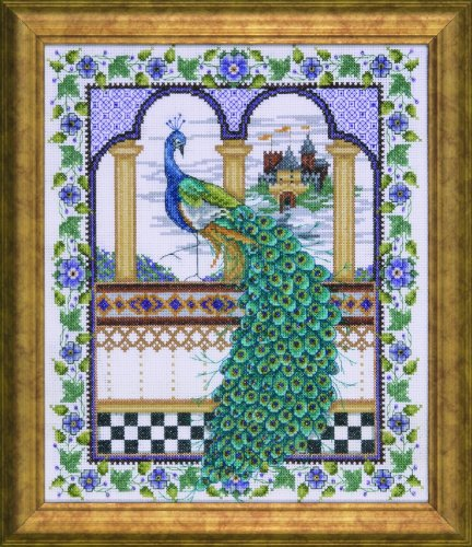 Peacock Cross Stitch - Counted Cross Stitch, Peacock, 10 by 12 inches