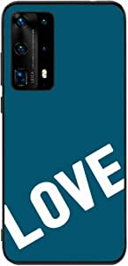 Okteq Back cover Compatible with Huawei P40 Pro - love blue