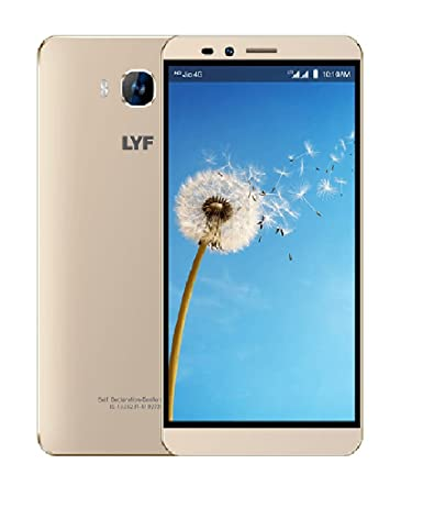 LYF Wind 2 LS-6001 Gold 2GB RAM 6 Inches HD Display
