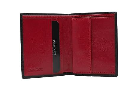 PIAMONTE, 720 classics, cartera pequeña con monedero marrón y rojo