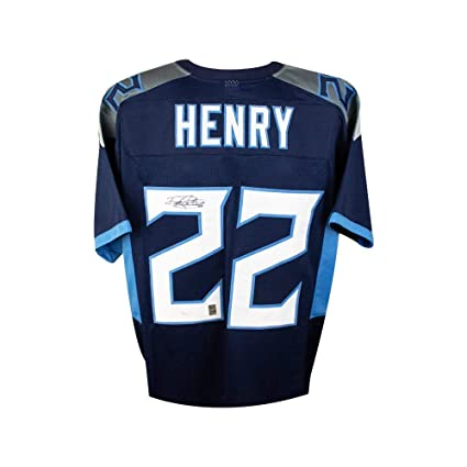 Image Unavailable. Image not available for. Color  Derrick Henry Autographed  Tennessee Titans Custom Football Jersey - JSA COA 29d1592e1