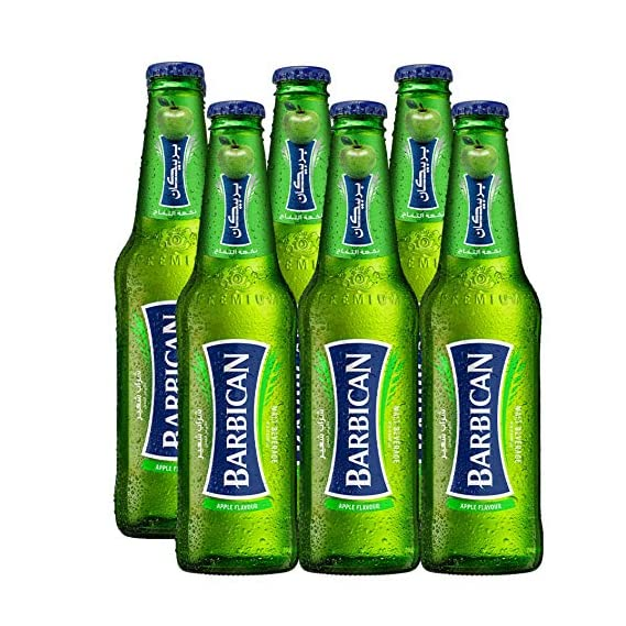 Barbican Refreshing Apple Flavour Non-Alcoholic Malt Drink Beer Bottle (330 ml) - Pack of 6