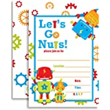 amazon com robots shaped fill in invitations baby shower or