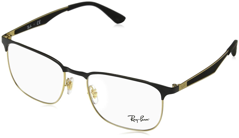 Amazon.com: anteojos Ray-Ban óptico Rx 6412 2904 negro/negro ...