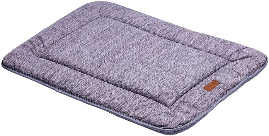 QIAOQI Dog Bed Kennel Pad Waterproof Crate Mat Washable Orthopedic Antislip Beds Dense Memory Foam Cushion Padding Bolster   Perfect Sleep Bedding Pads for Carrier Cage