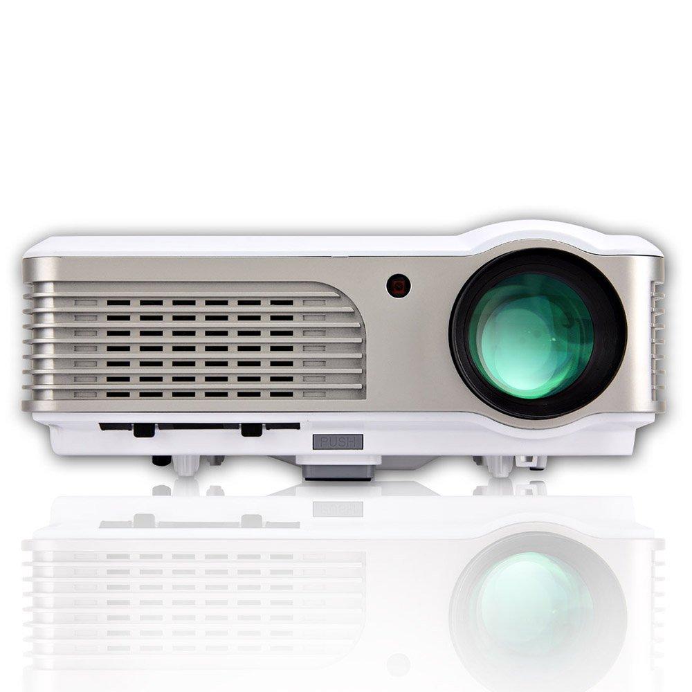 CAIWEI プロジェクター 解像度1024*600サポート1080P 2600ルーメン 2500:1コントラスト比 ビジネス教学ホームシアターパーティーなど USB /HDMI/VGA-In/AV/S-Video/Mini-Jack Audio-In/RS-232c対応   B01I9MUS0C
