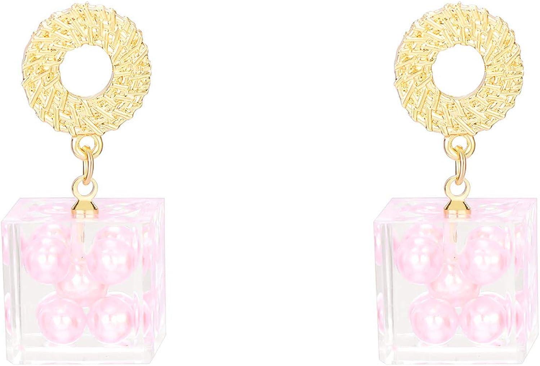 HINK Pendientes de Ganchos Colgantes de Piedras Preciosas turquesas Boho Vintage Pendientes de joyería y Relojes de Compromiso de Boda Pendientes