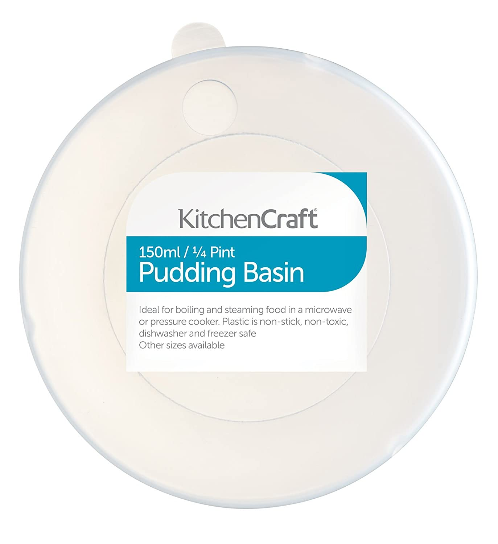 Amazon.com: Kitchen Craft Pudding Basin & Lid 0.25 Pint 150ml Cake ...