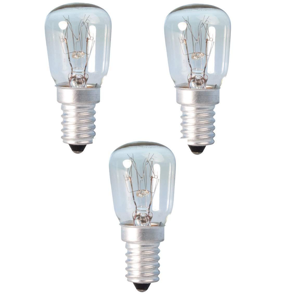 3 x 15Watt Bulb Pygmy E14 Salt Lamp SES Crystal Lamp Screw Cap Clear Light Bulb