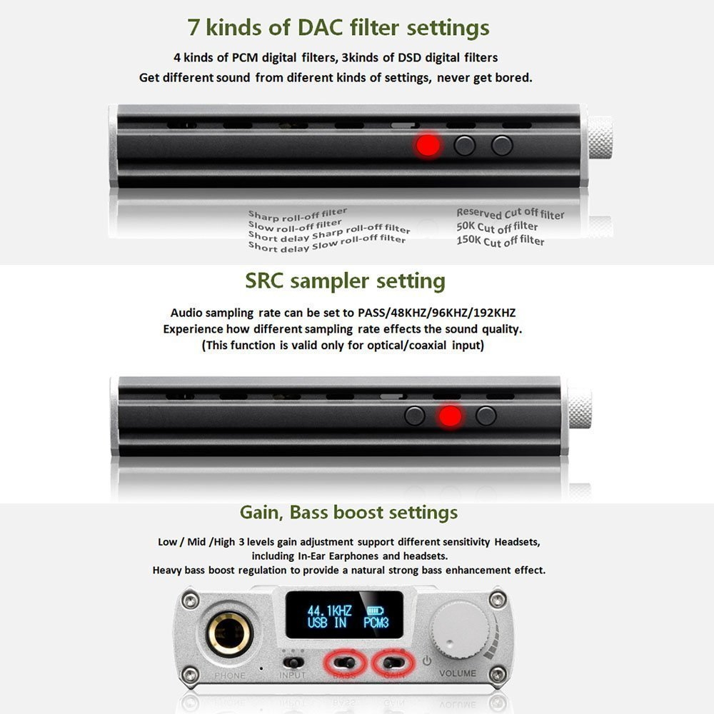 Xduoo Xd 05 Dsd Dac Portable Audio Headphone Amplifier Amp 32bit 384khz Black Home Theater