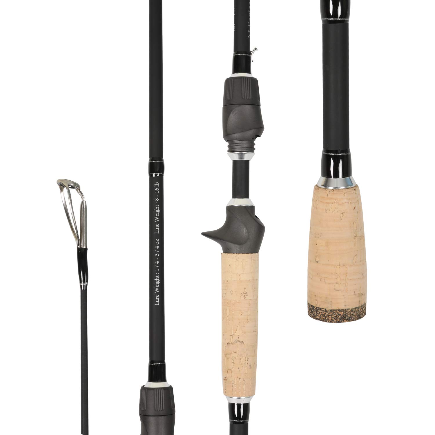 Entsport N Series – Aries 2 Pieces 7 Bait Casting Spinning Rod with Fuji Guide and Reel Seat