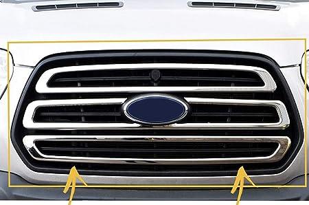 2019+ Para Transit MK8 Cubierta para faros antiniebla delanteros de acero inoxidable cromado 2 piezas