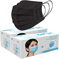 50/100 Pack Face Shield Disposable Three Layer; with Elastic Ear Loop, 3 Ply Breathable and Comfortable for Blocking…