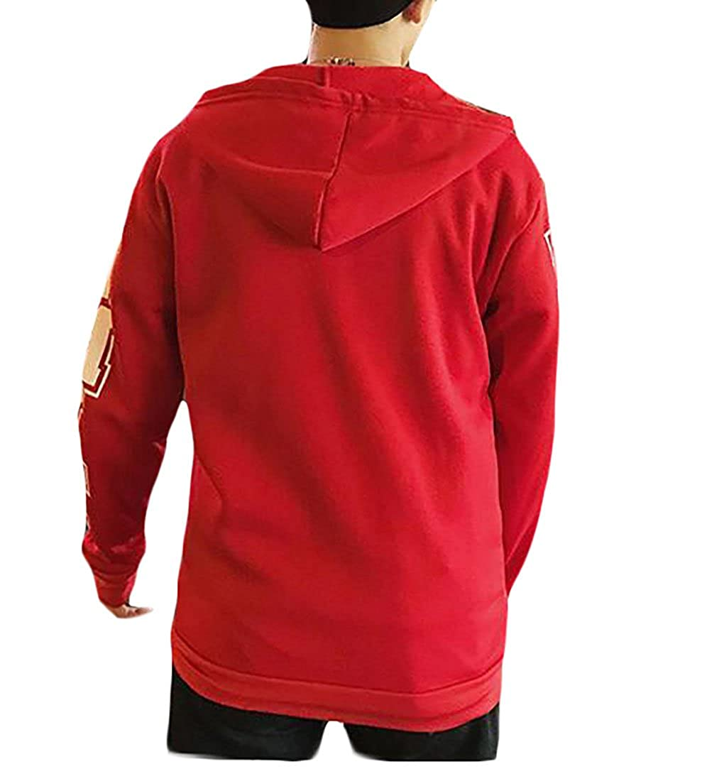 Tymhgt Mens Hoodie Classic Striped Print Sweatshirt Fashion Jacket