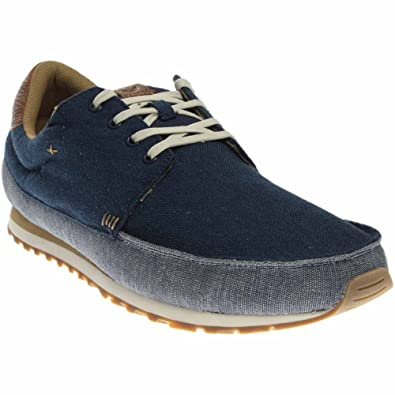 Sanuk Men's Beer Runner Navy/Tan Oxford