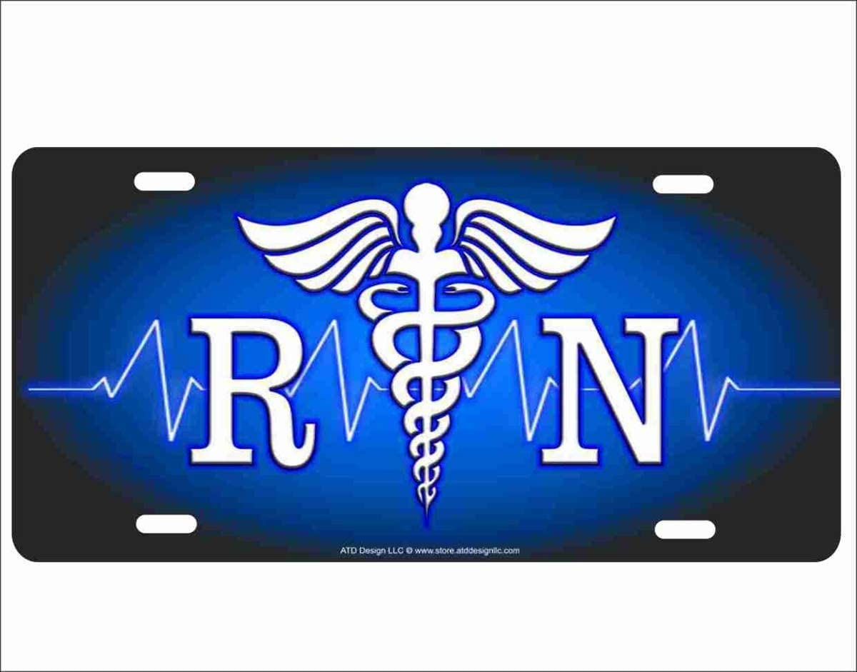 Vanity Tag ROBAO Tools////Registered Nurse Logo Personalized Novelty Aluminum License Plate Front License Plate