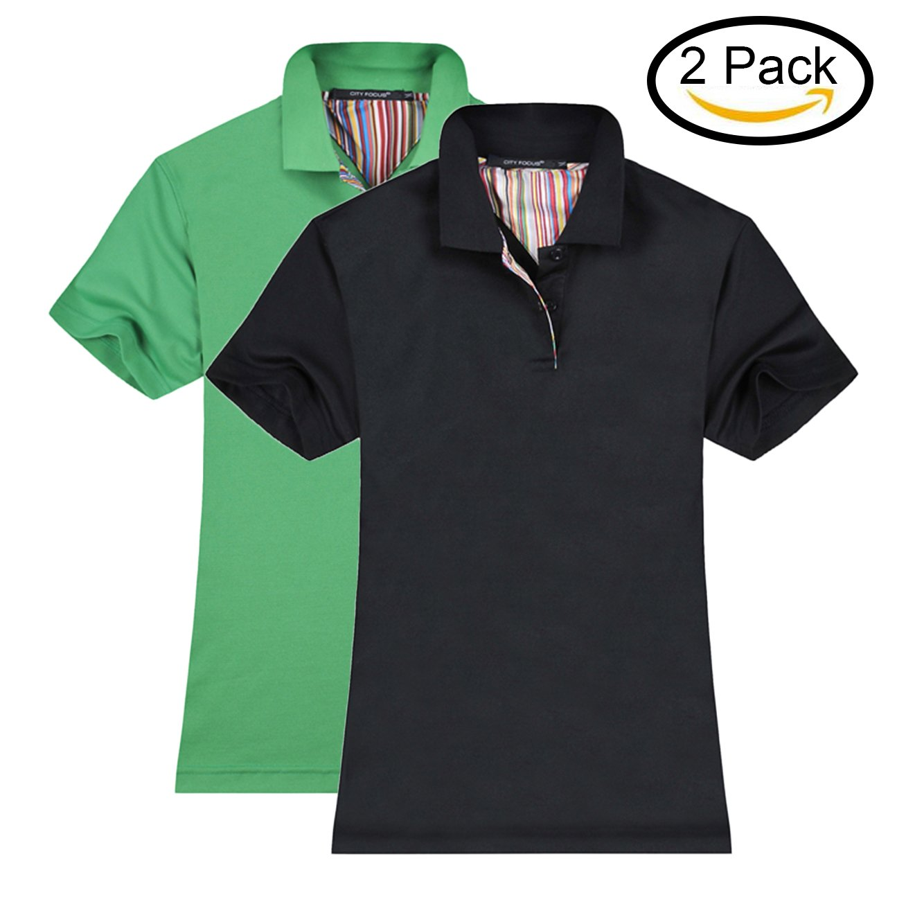 MTTROLI Womens Polo Shirts Short Sleeve Design T Shirts Womens Workwear 2 Button Design Tops