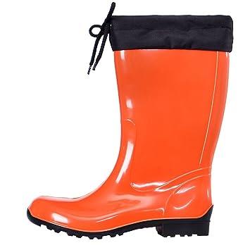 Lemigo Sara Gummistiefel Regenstiefel Stiefel Schuhe Orange Größe:39 oDvWK6Yc