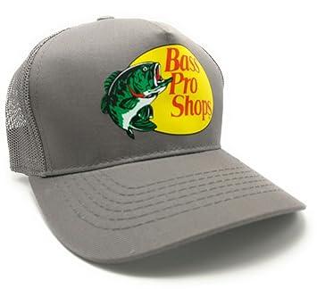 Bass Pro Shops Mesh Logo Fishing Hat -Grey Adjustable 37eff519775