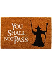 getDigital Doormat You shall not pass - Carpet Entrance Rug Front Door Welcome Mat - Made from coco coir fibers - Perfect for LotR lovers - Orange-Brown, 23.7 x 15.7 inch