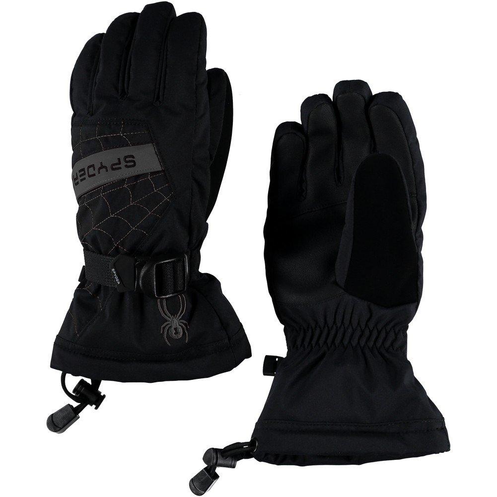 Spyder Boys Overweb-Ski Gloves, Black/Polar, Large