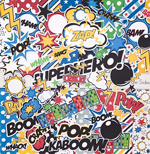 Matching Die Cuts & Paper Kit - Superhero Set - by Miss Kate Cuttables - 16 Single - Sided 12