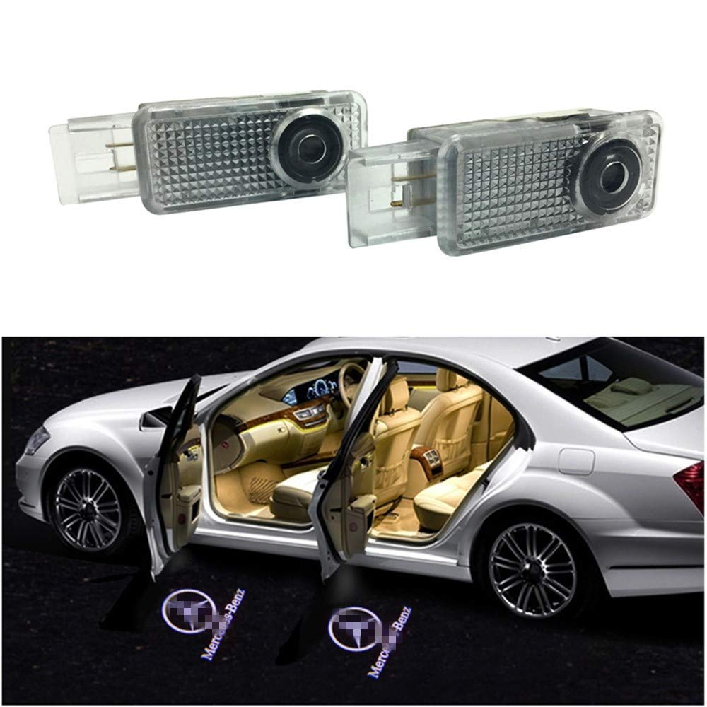 Welcome Light 2 Pairs Of LED Courtesy Lights Easy Installation Car Door Laser Projector Logo Ghost Shadow Lights