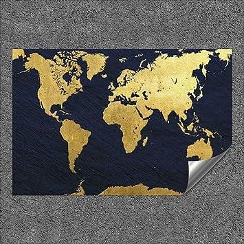 CGSignLab 5-Pack   36x24 Inner CircleGold Foil World Map Outdoor Contour Wall Decor