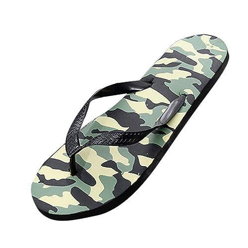 08bbed7f9297 Christalor Men s Flip Flops Thongs – MemoryFit Comfy Sandals Beach Pool Indoor  Lightweight Summer