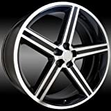 Sik 051 24x10 Gloss Black and Machined IROC Wheel 5x115mm Bolt Pattern / +10mm Offset / 74.1mm Hub Bore
