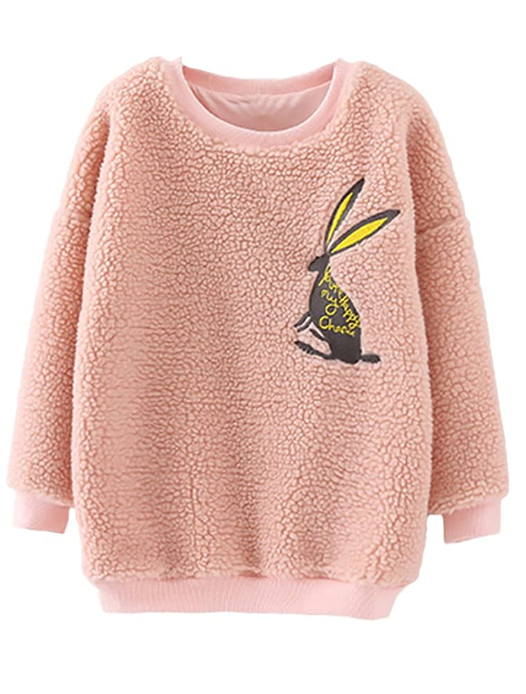 Mallimoda Girl's Long Sleeve Cartoon Fleece Warm T-Shirt Top CA-MaXT091