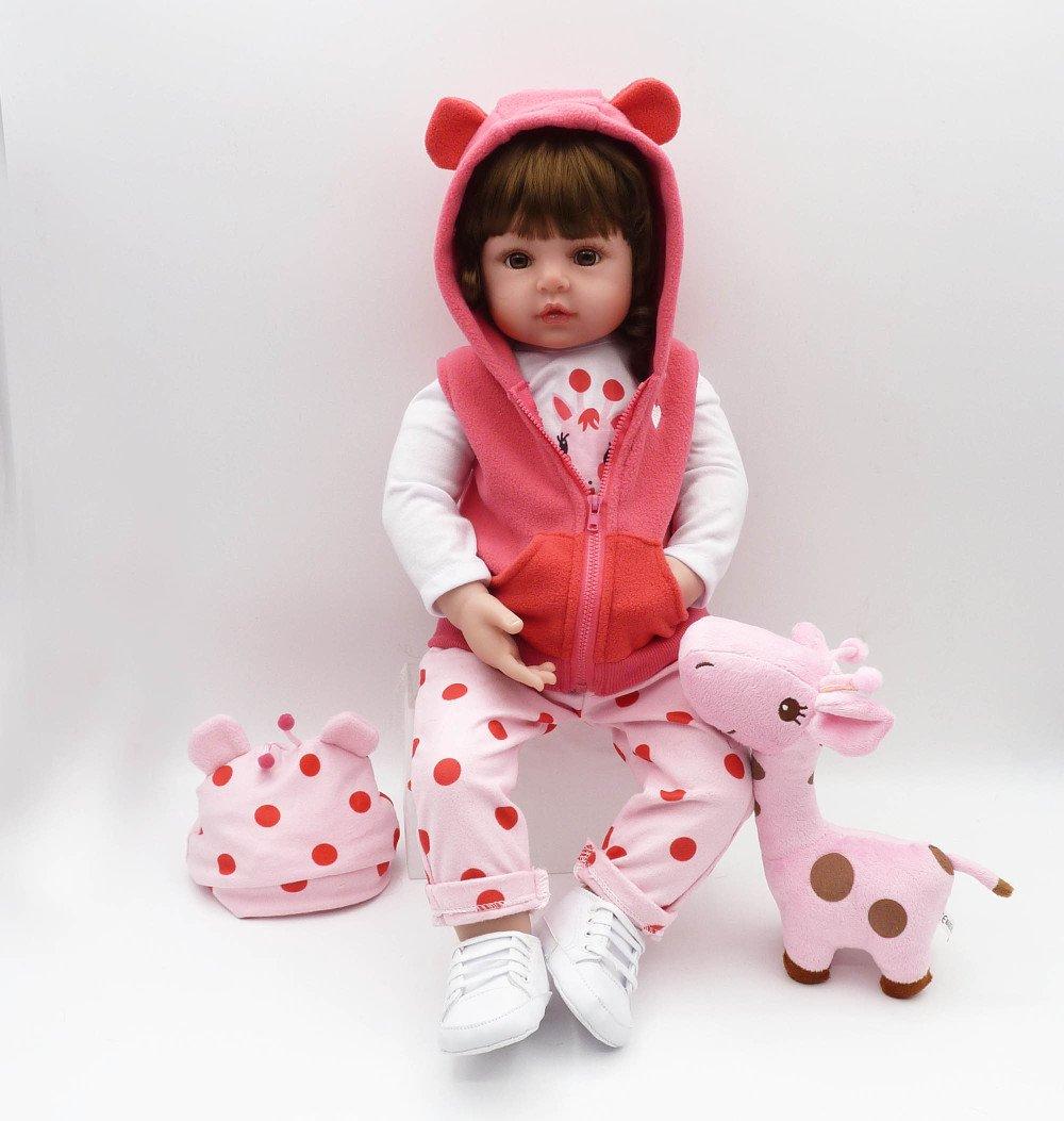 ADZPAB Nicery Reborn Baby Doll Realista Princesa Realizada Cabello Rubio Largo, Regalo de cumpleaños para niños de Juguete 24 Pulgadas 61 cm (Color