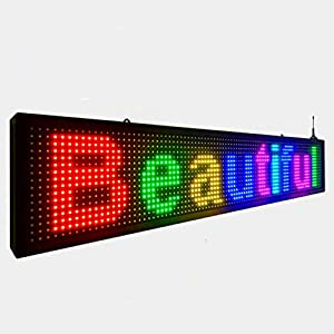 P10 full color outdoor colorful wifi scrolling texts messages board programmable led sign