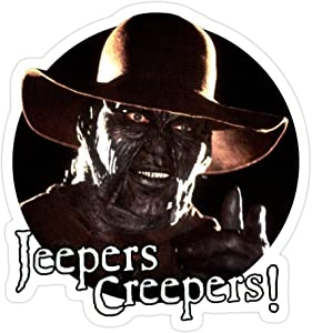 Sneaky Cover (3 PCs/Pack) Jeepers Creepers Jc2 3x4 Inch Die-Cut Stickers Decals for Laptop Window Car Bumper Helmet Water Bottle