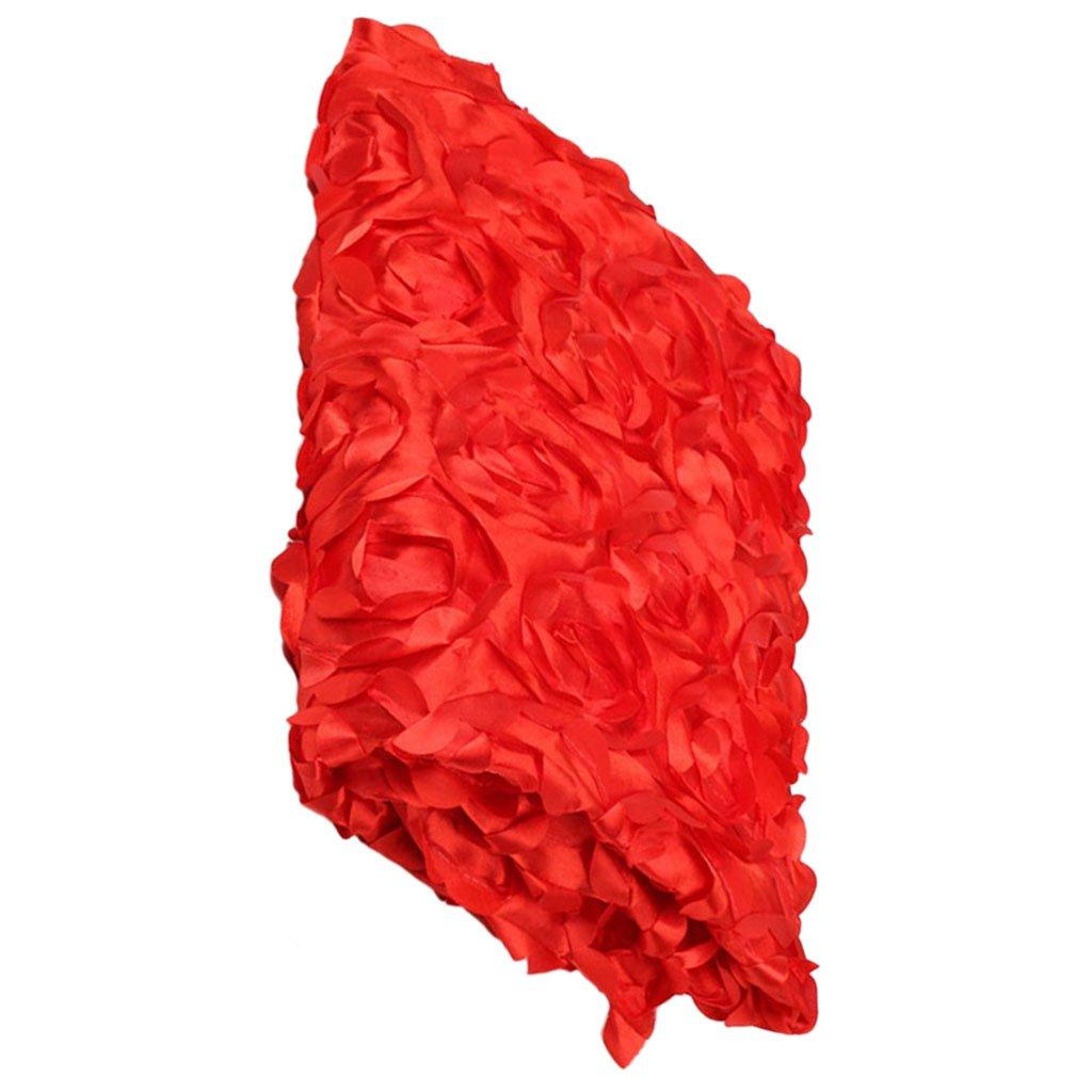 MagiDeal 140x60cm Anti-slip 3D Rose Flower Wedding Stage Floor Long Carpet Aisle Runner Mats Rugs - Pink, 140x60cm