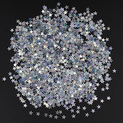 Md Trade Star Confetti Star Glitter Confetti Metallic Foil Stars Sequin for Party Wedding Decorations and Nail Art, 90 Grams/3 - Star Shaped Glitter