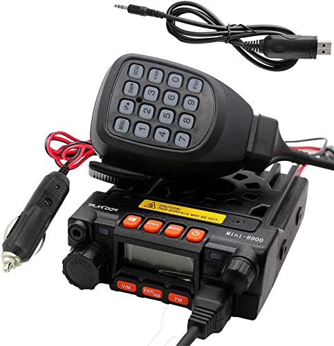 TALKCOOP KT-8900 25 20W UHF VHF Mobile Radio 136-174 400-480MHz Mini Car Radio Amateur Radio Free Programming Cable and CD