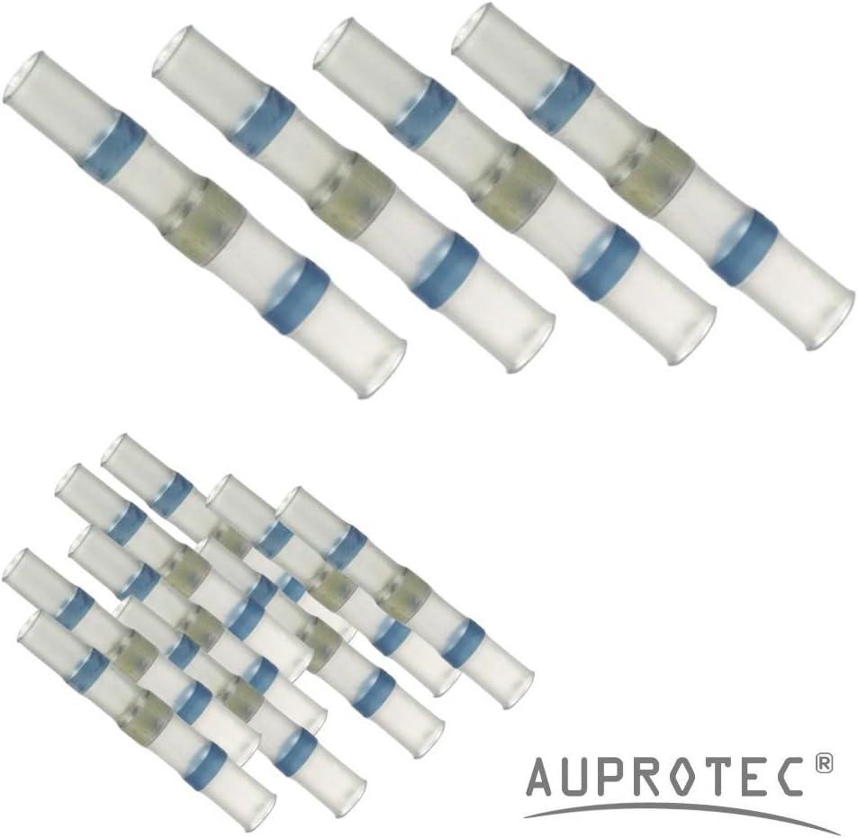 10-100 Connettori termoretraibili saldanti blu /Ø 5 mm 1,0-2,5 mm/² selezione: 20 - pezzi
